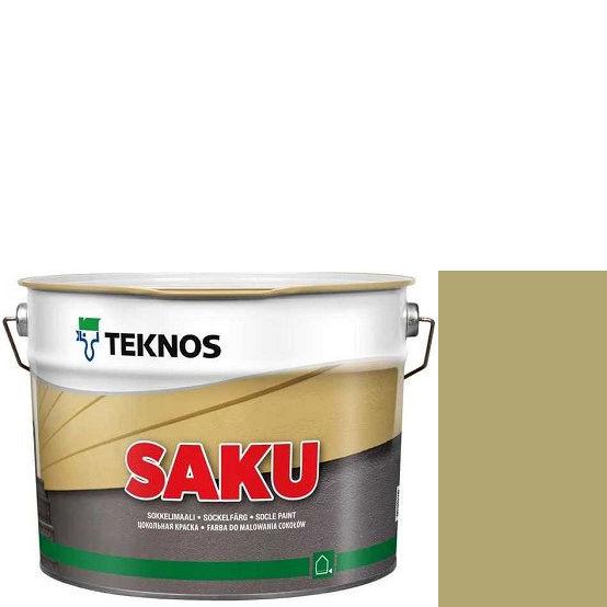 """Фото 1 - Краска Текнос фасадная """"Цаку"""" Т7004 (Saku) дисперсионная матовая для бетонных поверхностей (2.7 л) """"Teknos""""."""