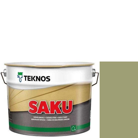 """Фото 1 - Краска Текнос фасадная """"Цаку"""" Т7011 (Saku) дисперсионная матовая для бетонных поверхностей (2.7 л) """"Teknos""""."""