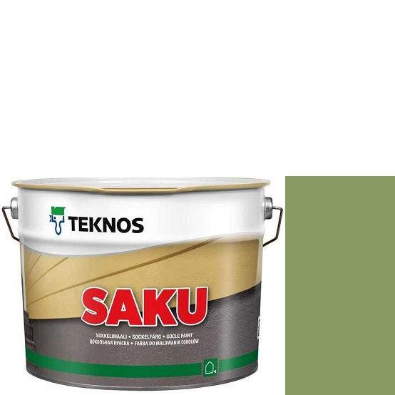 """Фото 1 - Краска Текнос фасадная """"Цаку"""" Т7012 (Saku) дисперсионная матовая для бетонных поверхностей (2.7 л) """"Teknos""""."""