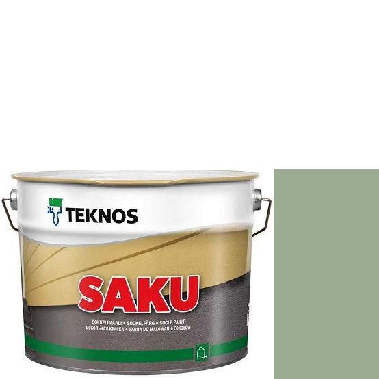 """Фото 1 - Краска Текнос фасадная """"Цаку"""" Т7017 (Saku) дисперсионная матовая для бетонных поверхностей (2.7 л) """"Teknos""""."""