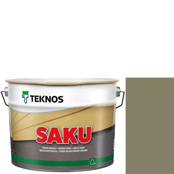 """Фото 1 - Краска Текнос фасадная """"Цаку"""" Т7019 (Saku) дисперсионная матовая для бетонных поверхностей (9 л) """"Teknos""""."""