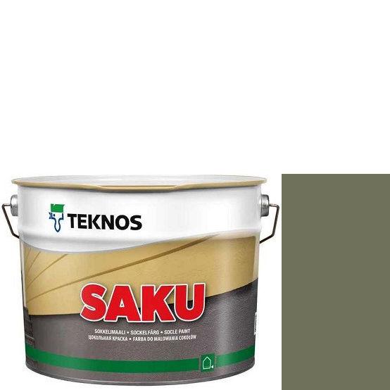 """Фото 1 - Краска Текнос фасадная """"Цаку"""" Т7020 (Saku) дисперсионная матовая для бетонных поверхностей (9 л) """"Teknos""""."""