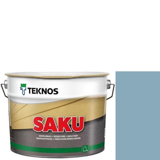"""Фото 1 - Краска Текнос фасадная """"Цаку"""" Т7025 (Saku) дисперсионная матовая для бетонных поверхностей (2.7 л) """"Teknos""""."""