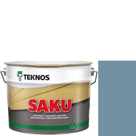 """Фото 1 - Краска Текнос фасадная """"Цаку"""" Т7026 (Saku) дисперсионная матовая для бетонных поверхностей (9 л) """"Teknos""""."""