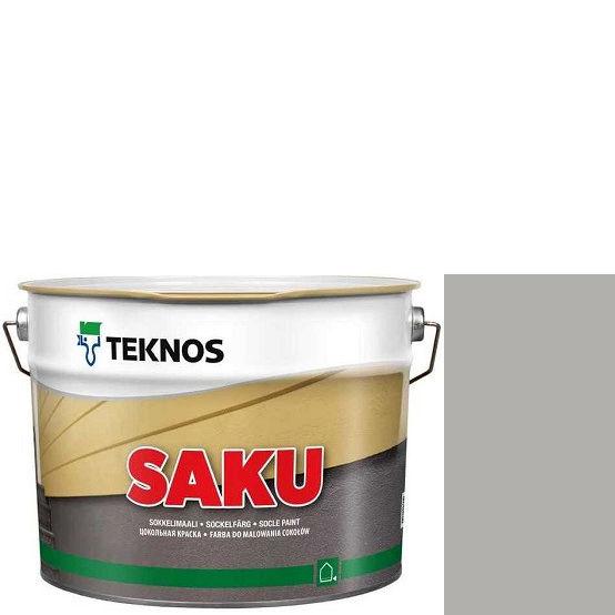 """Фото 1 - Краска Текнос фасадная """"Цаку"""" Т7038 (Saku) дисперсионная матовая для бетонных поверхностей (2.7 л) """"Teknos""""."""