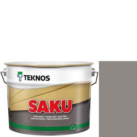 """Фото 1 - Краска Текнос фасадная """"Цаку"""" Т7039 (Saku) дисперсионная матовая для бетонных поверхностей (9 л) """"Teknos""""."""