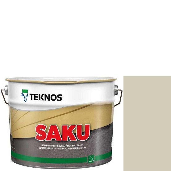 """Фото 1 - Краска Текнос фасадная """"Цаку"""" Т7051 (Saku) дисперсионная матовая для бетонных поверхностей (9 л) """"Teknos""""."""