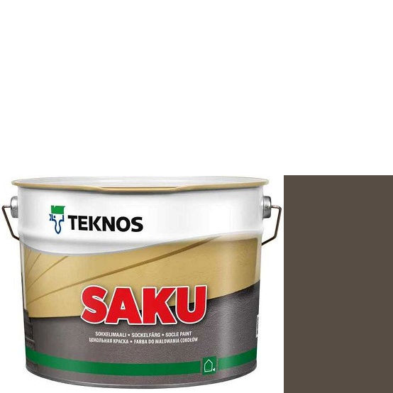 """Фото 1 - Краска Текнос фасадная """"Цаку"""" Т7055 (Saku) дисперсионная матовая для бетонных поверхностей (9 л) """"Teknos""""."""