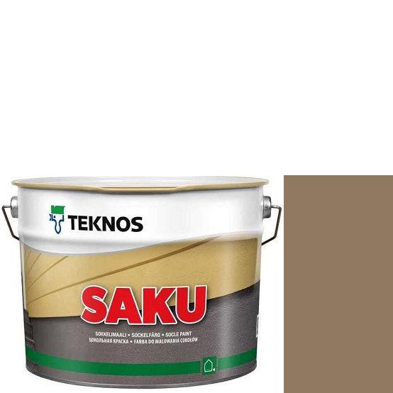 """Фото 1 - Краска Текнос фасадная """"Цаку"""" Т7059 (Saku) дисперсионная матовая для бетонных поверхностей (2.7 л) """"Teknos""""."""