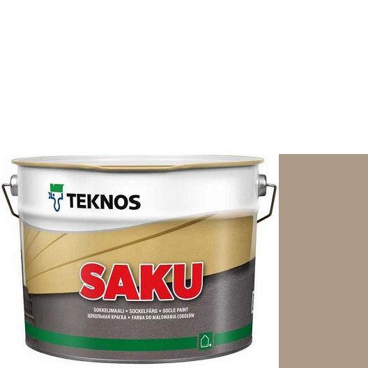 """Фото 1 - Краска Текнос фасадная """"Цаку"""" Т7060 (Saku) дисперсионная матовая для бетонных поверхностей (2.7 л) """"Teknos""""."""
