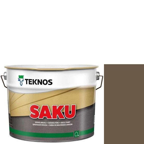 """Фото 1 - Краска Текнос фасадная """"Цаку"""" Т7062 (Saku) дисперсионная матовая для бетонных поверхностей (9 л) """"Teknos""""."""