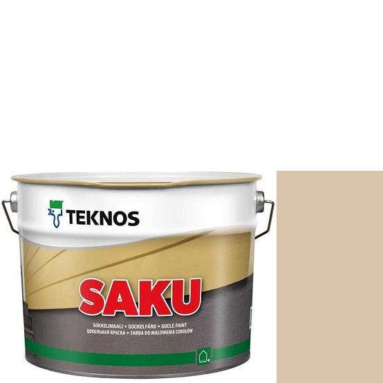 """Фото 1 - Краска Текнос фасадная """"Цаку"""" Т7064 (Saku) дисперсионная матовая для бетонных поверхностей (9 л) """"Teknos""""."""