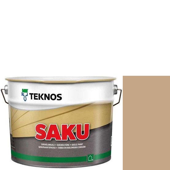 """Фото 1 - Краска Текнос фасадная """"Цаку"""" Т7065 (Saku) дисперсионная матовая для бетонных поверхностей (2.7 л) """"Teknos""""."""