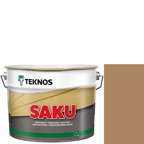 """Фото 1 - Краска Текнос фасадная """"Цаку"""" Т7066 (Saku) дисперсионная матовая для бетонных поверхностей (2.7 л) """"Teknos""""."""