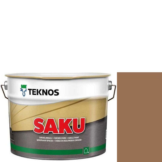 """Фото 1 - Краска Текнос фасадная """"Цаку"""" Т7067 (Saku) дисперсионная матовая для бетонных поверхностей (2.7 л) """"Teknos""""."""