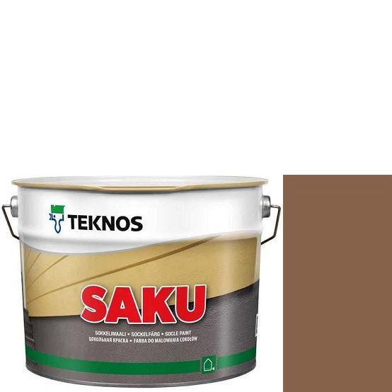"""Фото 1 - Краска Текнос фасадная """"Цаку"""" Т7068 (Saku) дисперсионная матовая для бетонных поверхностей (9 л) """"Teknos""""."""