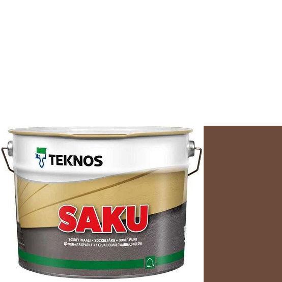 """Фото 1 - Краска Текнос фасадная """"Цаку"""" Т7069 (Saku) дисперсионная матовая для бетонных поверхностей (9 л) """"Teknos""""."""