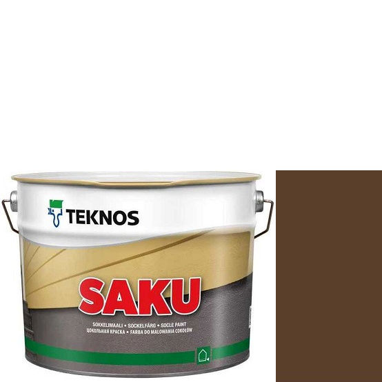 """Фото 1 - Краска Текнос фасадная """"Цаку"""" Т7076 (Saku) дисперсионная матовая для бетонных поверхностей (9 л) """"Teknos""""."""