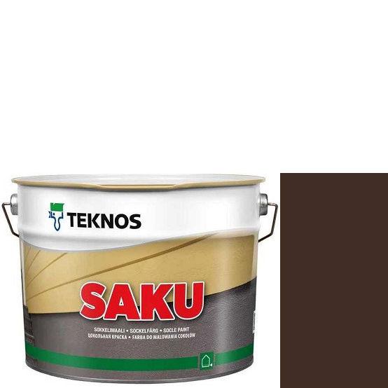 """Фото 1 - Краска Текнос фасадная """"Цаку"""" Т7077 (Saku) дисперсионная матовая для бетонных поверхностей (9 л) """"Teknos""""."""