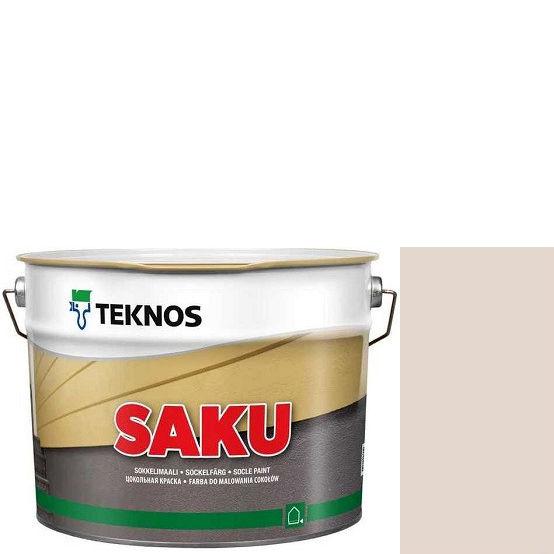 """Фото 1 - Краска Текнос фасадная """"Цаку"""" Т7078 (Saku) дисперсионная матовая для бетонных поверхностей (9 л) """"Teknos""""."""