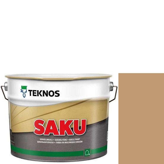 """Фото 1 - Краска Текнос фасадная """"Цаку"""" Т7087 (Saku) дисперсионная матовая для бетонных поверхностей (9 л) """"Teknos""""."""