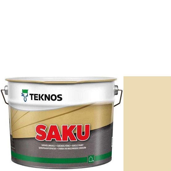 """Фото 1 - Краска Текнос фасадная """"Цаку"""" Т7092 (Saku) дисперсионная матовая для бетонных поверхностей (9 л) """"Teknos""""."""