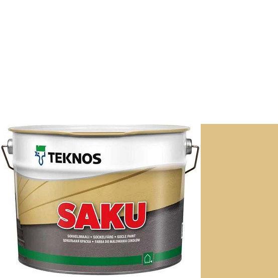 """Фото 1 - Краска Текнос фасадная """"Цаку"""" Т7093 (Saku) дисперсионная матовая для бетонных поверхностей (2.7 л) """"Teknos""""."""