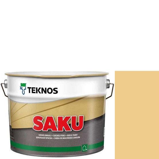 """Фото 1 - Краска Текнос фасадная """"Цаку"""" Т7101 (Saku) дисперсионная матовая для бетонных поверхностей (2.7 л) """"Teknos""""."""
