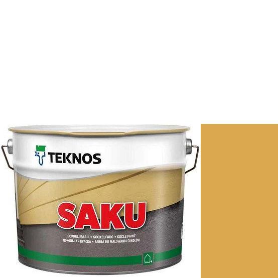 """Фото 1 - Краска Текнос фасадная """"Цаку"""" Т7103 (Saku) дисперсионная матовая для бетонных поверхностей (9 л) """"Teknos""""."""