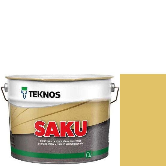 """Фото 1 - Краска Текнос фасадная """"Цаку"""" Т7108 (Saku) дисперсионная матовая для бетонных поверхностей (9 л) """"Teknos""""."""