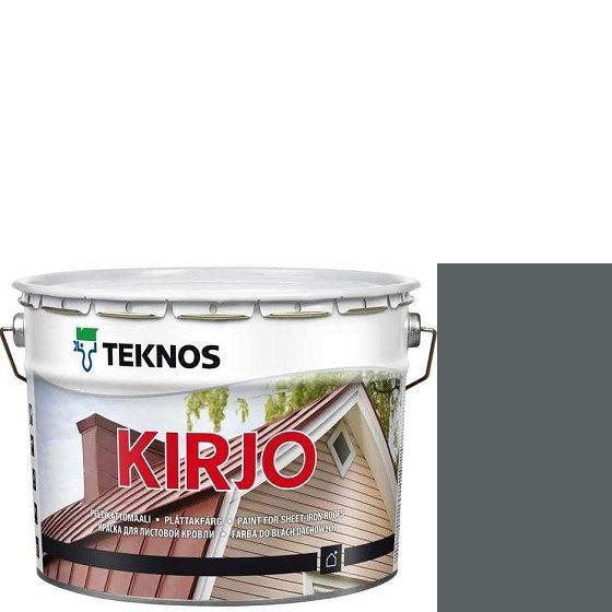 """Фото 1 - Краска Текнос """"Кирьё"""" T2503 (Kirjo) алкидная полуматовая для листовой кровли (9 л) """"Teknos""""."""