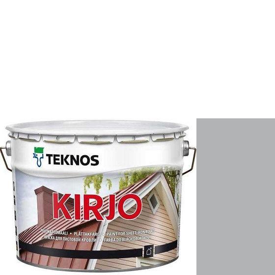 """Фото 1 - Краска Текнос """"Кирьё"""" T2502 (Kirjo) алкидная полуматовая для листовой кровли (2.7 л) """"Teknos""""."""