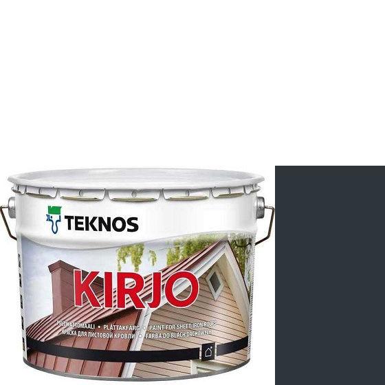 """Фото 1 - Краска Текнос """"Кирьё"""" T2504 (Kirjo) алкидная полуматовая для листовой кровли (9 л) """"Teknos""""."""