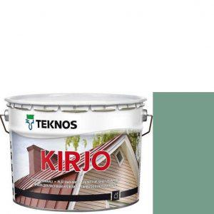 """Фото 9 - Краска Текнос """"Кирьё"""" T2505 (Kirjo) алкидная полуматовая для листовой кровли (2.7 л) """"Teknos""""."""