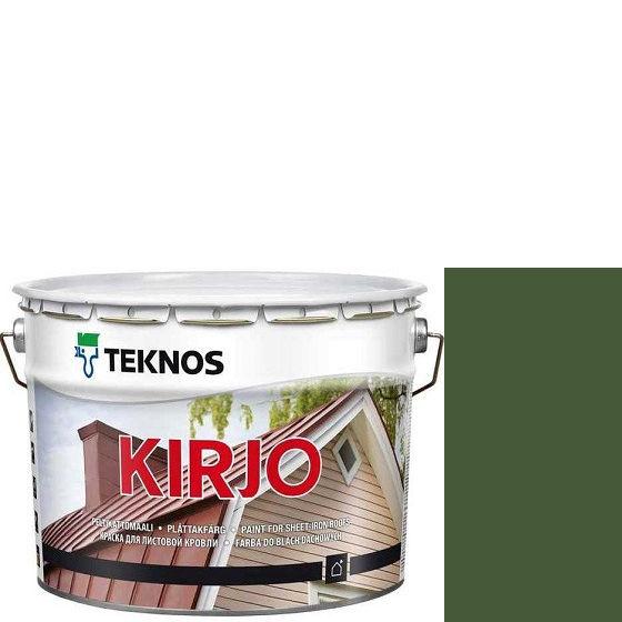 """Фото 1 - Краска Текнос """"Кирьё"""" T2506 (Kirjo) алкидная полуматовая для листовой кровли (2.7 л) """"Teknos""""."""