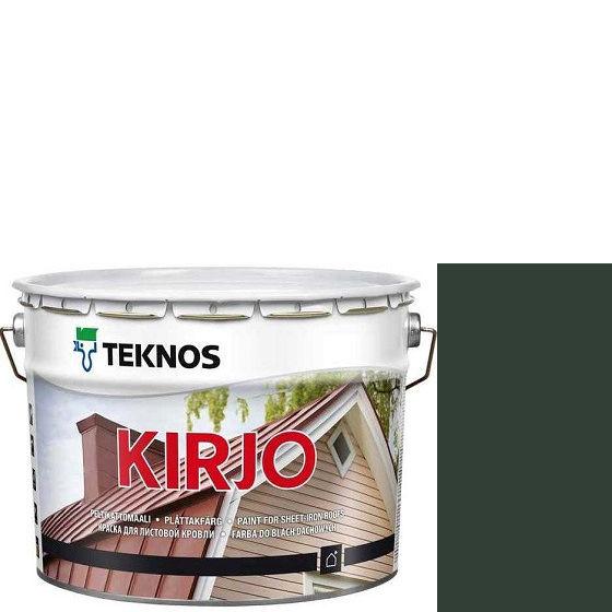 """Фото 1 - Краска Текнос """"Кирьё"""" T2507 (Kirjo) алкидная полуматовая для листовой кровли (9 л) """"Teknos""""."""