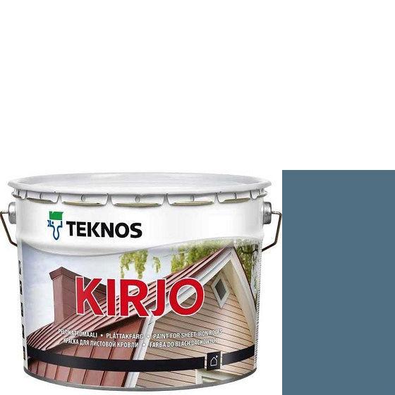 """Фото 15 - Краска Текнос """"Кирьё"""" T2508 (Kirjo) алкидная полуматовая для листовой кровли (2.7 л) """"Teknos""""."""
