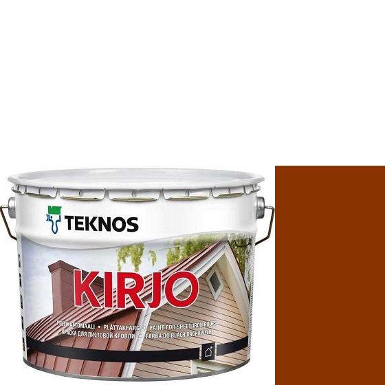 """Фото 1 - Краска Текнос """"Кирьё"""" T2509 (Kirjo) алкидная полуматовая для листовой кровли (9 л) """"Teknos""""."""