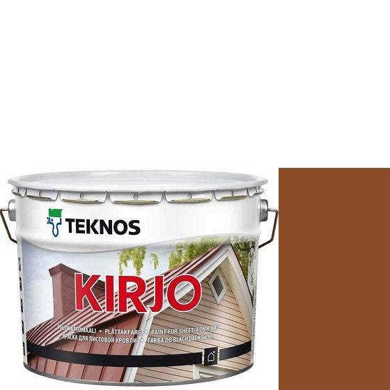 """Фото 1 - Краска Текнос """"Кирьё"""" T2510 (Kirjo) алкидная полуматовая для листовой кровли (9 л) """"Teknos""""."""