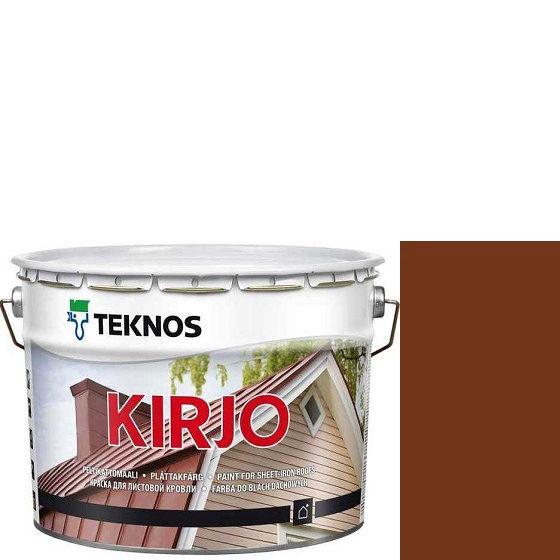 """Фото 21 - Краска Текнос """"Кирьё"""" T2511 (Kirjo) алкидная полуматовая для листовой кровли (2.7 л) """"Teknos""""."""