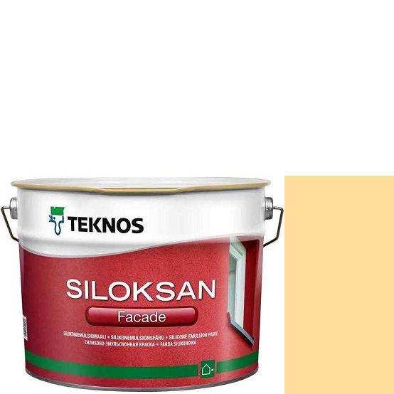 "Фото 23 - Краска Текнос фасадная ""Силоксан Фасад"" S1020-Y20R (Siloksan Facade) силиконовая матовая (2.7 л) ""Teknos""."