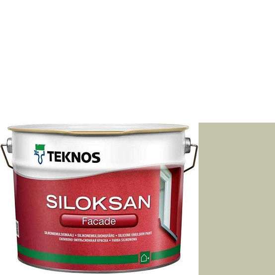 "Фото 1 - Краска Текнос фасадная ""Силоксан Фасад"" S2005-G80Y (Siloksan Facade) силиконовая матовая (2.7 л) ""Teknos""."