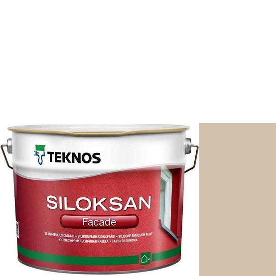 "Фото 1 - Краска Текнос фасадная ""Силоксан Фасад"" S2005-Y40R (Siloksan Facade) силиконовая матовая (2.7 л) ""Teknos""."