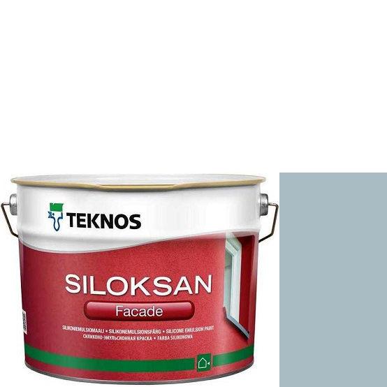 "Фото 1 - Краска Текнос фасадная ""Силоксан Фасад"" S2010-R90B (Siloksan Facade) силиконовая матовая (9 л) ""Teknos""."