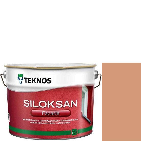 "Фото 1 - Краска Текнос фасадная ""Силоксан Фасад"" S2020-Y60R (Siloksan Facade) силиконовая матовая (2.7 л) ""Teknos""."