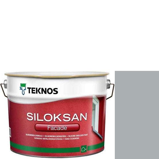 "Фото 1 - Краска Текнос фасадная ""Силоксан Фасад"" S2502-B (Siloksan Facade) силиконовая матовая (9 л) ""Teknos""."