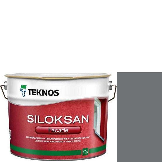 "Фото 1 - Краска Текнос фасадная ""Силоксан Фасад"" S4502-B (Siloksan Facade) силиконовая матовая (9 л) ""Teknos""."