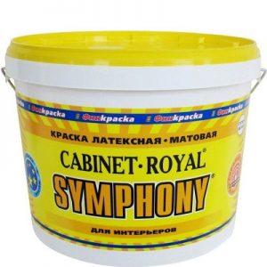 """Фото 10 - Краска Симфония """"Кабинет Ройал"""" (Cabinet Royal) латексная матовая для сухих помещений (9 л) ( супербелая) """"Symphony""""."""