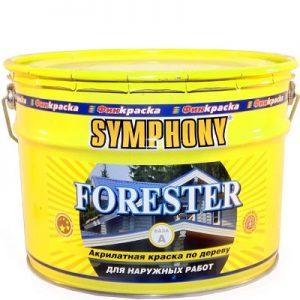 """Фото 13 - Краска Симфония """"Форестер"""" (Forester) акрилатная полуматовая для наружных деревянных поверхностей (база А)( 9 л) """"Symphony""""."""