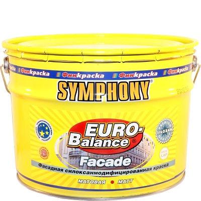 "Фото 1 - Краска Симфония фасадная ""Евро Баланс Фасад Силоксан"" (Euro Balance Faсade Siloxan) силоксановая (база LAP, матовая)(9 л) ""Symphony""."